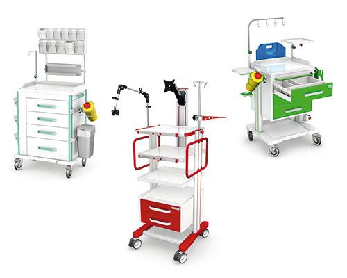 Stoliki, asystory, wózki medyczne