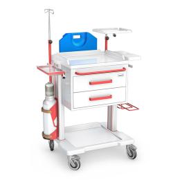 Wózek reanimacyjny OR-2ABS z wyposażeniem
