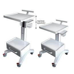 Wózki pod aparaturę medyczną AP-3 z regulacją wysokości