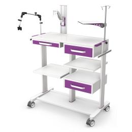 Wózki pod aparaturę medyczną PAR100-4N z wyposażeniem