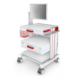 Wózki pod aparaturę medyczną AR80-3N z wyposażeniem