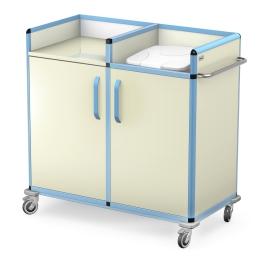 Wózek do transportu czystej i brudnej bielizny WCB-2133