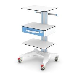 Wózki pod aparaturę medyczną AP-4 HPL z wyposażeniem