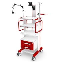 Wózki pod aparaturę medyczną AR140-4 z wyposażeniem