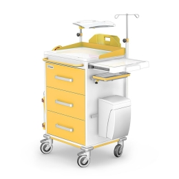 Wózek reanimacyjny REN-03 z wyposażeniem