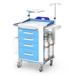 Wózek reanimacyjny REN-06 z wyposażeniem