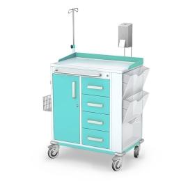 Wózek zabiegowy wielofunkcyjny MULTI-06/ST z wyposażeniem