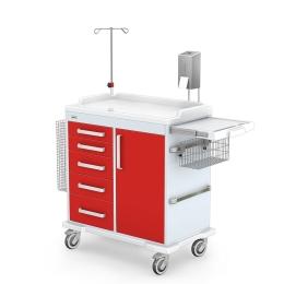 Wózek zabiegowy wielofunkcyjny MULTI-03/ABS z wyposażeniem