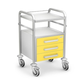 Stolik zabiegowy seria STKO-01/C żółty