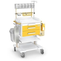 Stolik zabiegowy seria OPTIMUM typ OZ 2ABSb z wyposażeniem