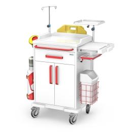 Wózek medyczny reanimacyjny REN-01/ABS