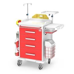 Wózek medyczny reanimacyjny REN-04/ABS