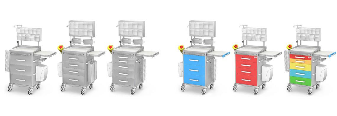 Wózki anestezjologiczne