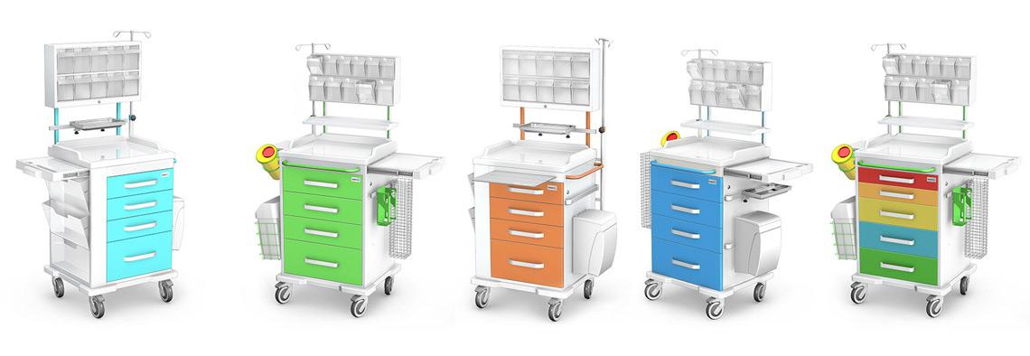 Wózki anestezjologiczne medyczne
