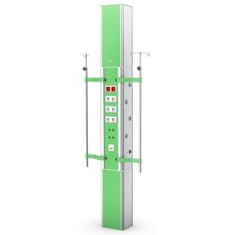 Kaseton elektryczno-gazowy ISA 9000 w układzie sufit-podłoga