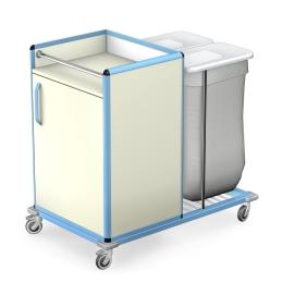 Wózek do transportu czystej i brudnej bielizny WCB-1221