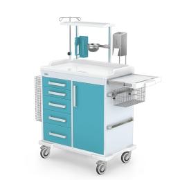wozek-wielofunkcyjny-zabiegowy-medyczny-MULTI-03-ABS-z-wyposażeniem