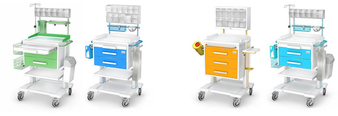 Wózki anestezjologiczne seria APAR