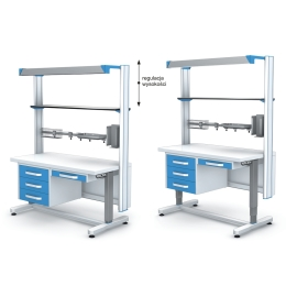 Stół roboczy APA120-3N z elektryczną regulacją wysokości