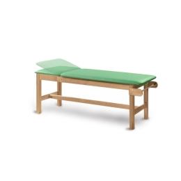 Drewniany stół rehabilitacyjny SR-F do fizykoterapii z regulowanym zagłówkiem