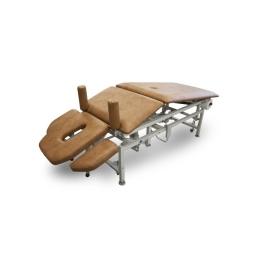 Stół do masażu 5 segmentowy SM-2E-Ł rp z elektryczną zmianą wysokości leżyska (łamany) z regulacją podnóżka