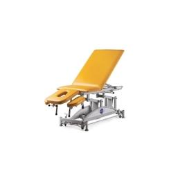 Stół do masażu 5 segmentowy SM-E-Ł rp z elektryczną zmianą wysokości leżyska (łamany) oraz regulowanym podnóżkiem