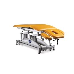 Stół do masażu 5 segmentowy SM-H-Ł rp z hydrauliczną zmianą wysokości leżyska (łamany) oraz ruchomym podnóżkiem
