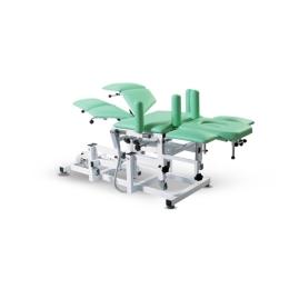Wielofunkcyjny stół rehabilitacyjny 8 sekcyjny SR-II z elektryczną zmianą wysokości leżyska do terapii manualnej