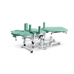 Wielofunkcyjny stół rehabilitacyjny 5 sekcyjny SR-I z elektroniczną zmianą wysokości leżyska do terapii manualnej