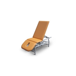 Stół rehabilitacyjny 3 sekcyjny SR-1E-Ł rp z elektryczną zmianą wysokości leżyska oraz regulacją podnóżka