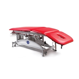 Stół rehabilitacyjny 3 sekcyjny SR-1H-Ł z hydrauliczną zmianą wysokości oraz łamanym leżyskiem