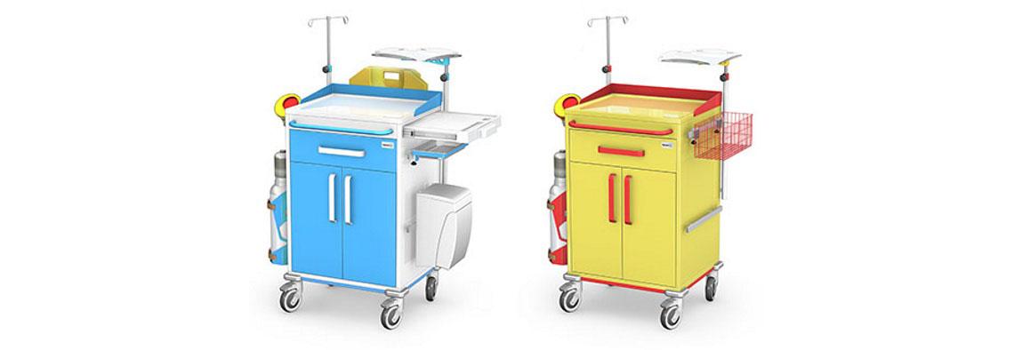 Wózki reanimacyjne REN-01ST