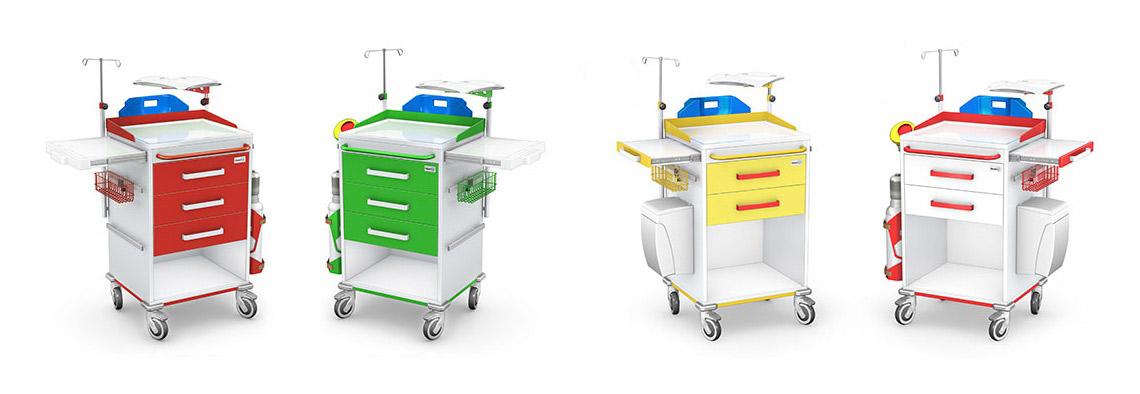 Wózki reanimacyjne REN-02 ST