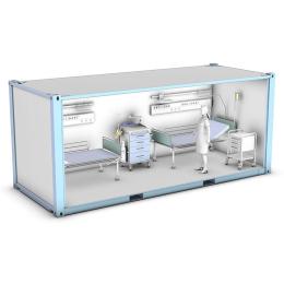 Mobilny szpital kontenerowy