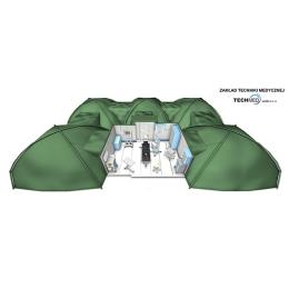 Szpital polowy mobilny namioty wojskowe